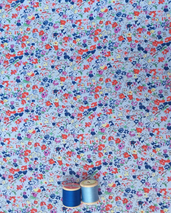 Cockerels Are Scattered All Over This Fabric Made From: Les Fleurs By Til The Sun Goes Down Vintage, Retro And